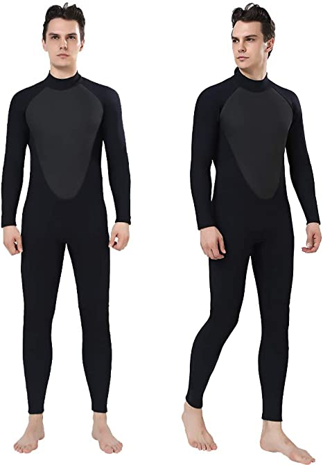 Surfing,Canoeing,Scuba Diving Wet Suits ZCCO Wetsuits Mens 3mm Premium Neoprene Full Sleeve Dive Skin for Spearfishing,Snorkeling