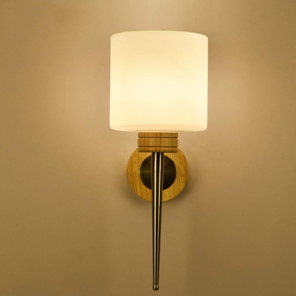 Irinay Amerikanisches Schlafzimmer Schmiedeeisen Einzelkopf Nachttischlampe Retro Hotelzimmer Eingang Korridor Wandleuchte Wandleuchte Home Office (Farbe   Colour-Größe)