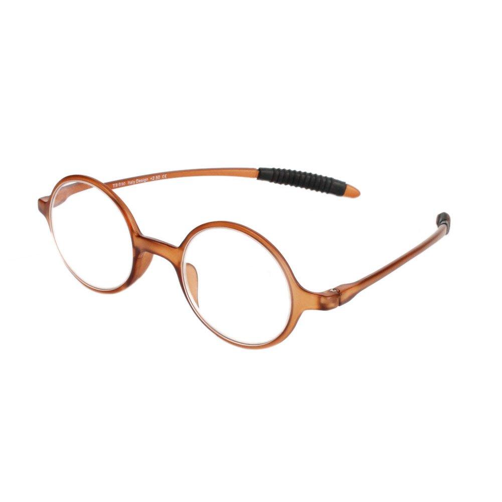 Fulision Lunettes de lecture r/étro femmes hommes rond cadre lunettes presbytie hyperm/étropie lunettes