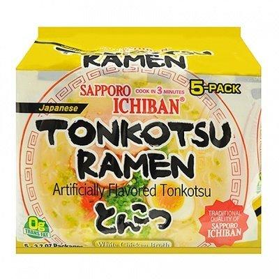 SAPPORO ICHIBAN INSTANT RAMEN (TONKOTSU) 100g X 5 - Ichiban Ramen