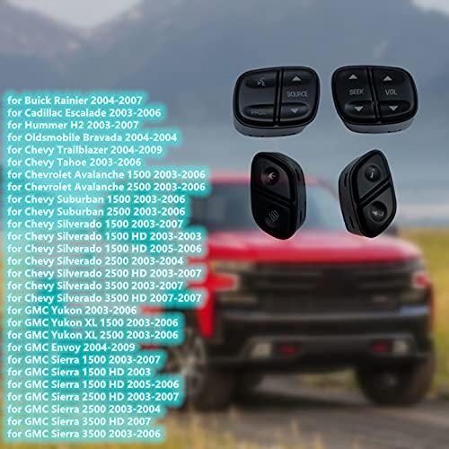 1999442 21997739 YYC Steering Wheel Radio Volume Control Switch Set for 2003-2009 Chevy Silverado Suburban Tahoe Avalanche GMC Sierra Yukon Cadillac Escalade,Replaces 21997738 1999443