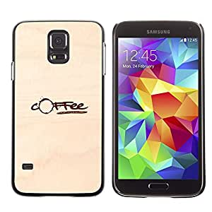 Plastic Shell Protective Case Cover || Samsung Galaxy S5 SM-G900 || Coffee Stain Brown Paper Caffeine @XPTECH