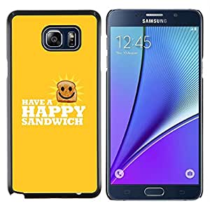 LECELL--Funda protectora / Cubierta / Piel For Samsung Galaxy Note 5 5th N9200 -- Feliz Sandwich divertido Lol --