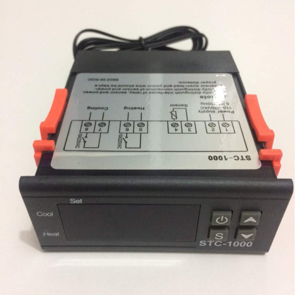 Zerama Mini STC-1000 Controlador Digital de Temperatura 50 ℃ ~ 110 ℃ Pantalla termostato Acuario de mariscos M/áquina