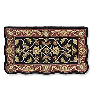 Buy Rectangular Hand Tufted Fire Resistant Scalloped Wool Fireplace McLean Hearth Rug 25 W x 45 L Black/Red: Area Rugs - Amazon.com ? FREE DELIVERY possible on eligible purchases