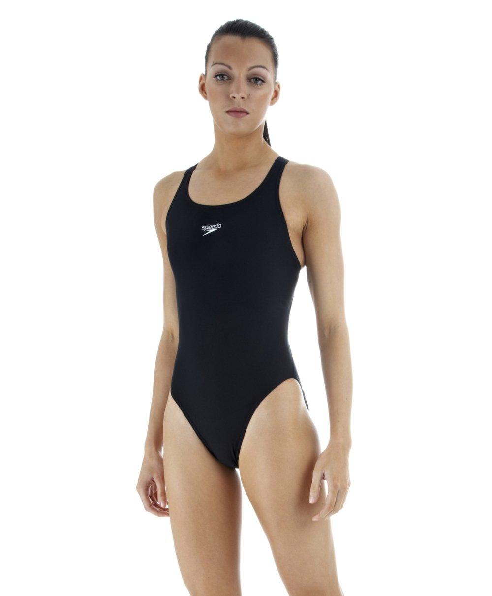 Speedo Damen Badeanzug Color 92 Schwarz Schwarz 38