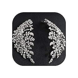Clear Crystals Rhinestone Bridal Hair Comb Headpiece