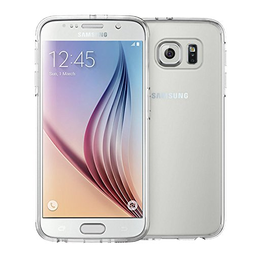 MeKo Galaxy S6 Case, MeKo [Fingerprints Resistant Series] Samsung Galaxy S6 Case Slim Fit Hybrid Clear Case / Cover with TPU Bumper for Galaxy S6 -- (Clear)