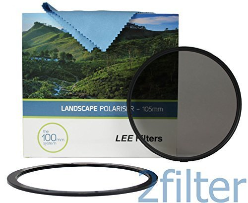 LEE Filters 105mm Slim Landscape Polarizer with 105mm Front Accessory ring and Wyndham Digital Microfiber cloth by Lee Filters