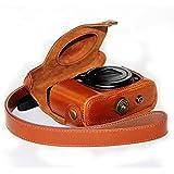 First2savvv XJPT-G16-A09 cuerpo completo ajuste preciso de cuero de la PU cámara digital bolsa caso cubierta con correa para Canon PowerShot G15 G16