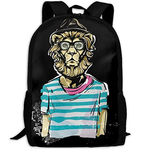 Lion Sir Double Shoulder Backpacks For Adults Traveling Bags Full Print Fashion by THIS STORE