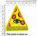 Pizza with Eye Eyeball Tattoo Wicca Occult Goth