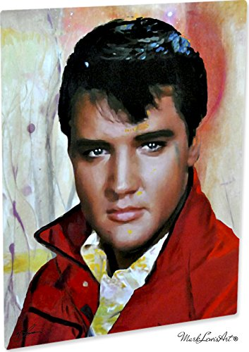 Mark Lewis Art Elvis Presley Artwork Abstract Modern Paintings Signed Print   Wall Art Eo
