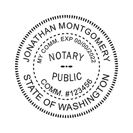 Amazon Washington Notary Stamp Office Products