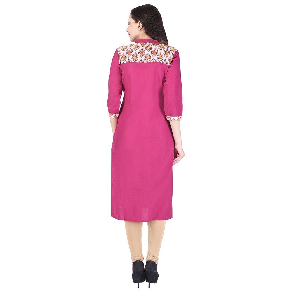 e44902ba252 Vihaan Impex Indian Kurtis for Women Kurti Kurtas for Women Bust Size 40  Inches Pink Kurti at Amazon Women s Clothing store
