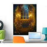 Wallmonkeys Window Ruins Castle with Wall Mural Peel and Stick Graphic (24 in H x 18 in W) WM334854