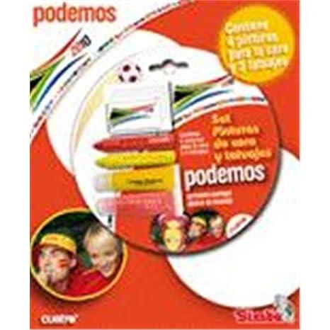 SIMBA Set Pinturas / Tatuajes Podemos: Amazon.es: Juguetes y juegos