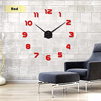 Moderno Marco múltiple grandes 3d DIY Reloj de pared Kit de decoración Home para salón dormitorio ...