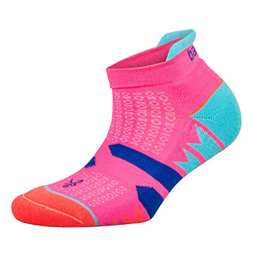 Balega Women's Enduro V-Tech No Show Socks (1 Pair), Watermelon/Orange, Medium ()