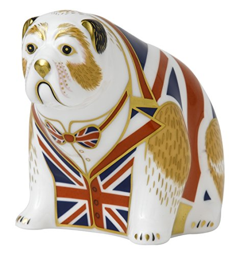 BULLDOG - UNION JACK Royal Crown Derby Paperweight (Collectibles Royal Derby Crown)