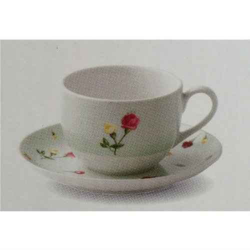 Royal Albert Country Rose Bud Green Teacup and Saucer