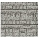 Design-A-Room Mad Scientist Wall Backdrop (30 ft. x 4 ft. ) Vinyl. Stone Brick Wall