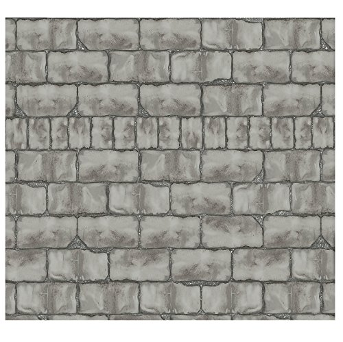 Design-A-Room Mad Scientist Wall Backdrop (30 ft. x 4 ft. ) Vinyl. Stone Brick Wall -