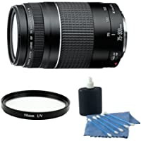 Canon EF 75-300mm f/4-5.6 III Telephoto Zoom Lens With UV Filter & Cleaning Kit