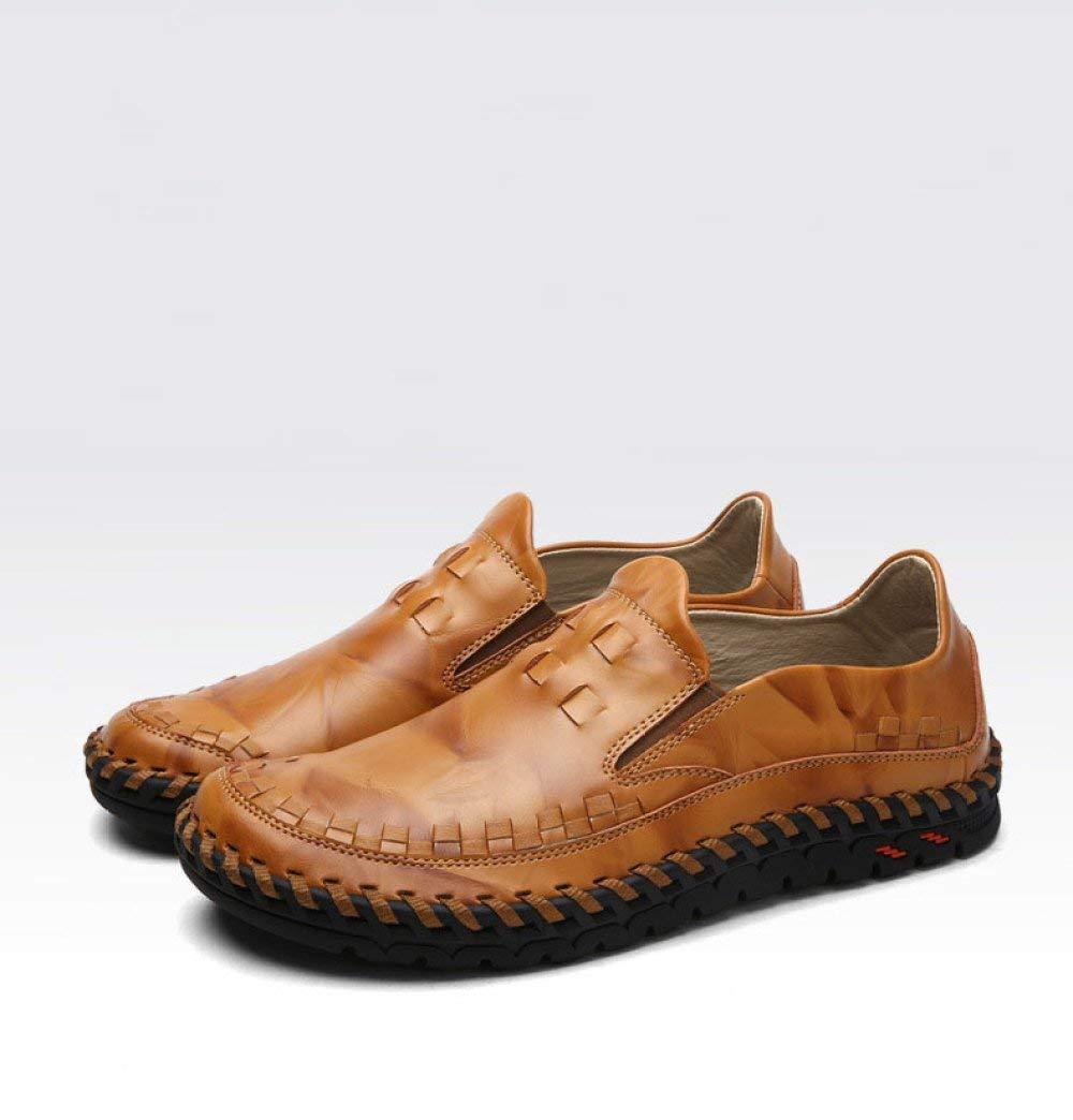 Eeayyygch Beanie Shoes Men Autumn New Mens Leather Cocodrilo patrón Zapatos de Hombre Casual Shoes Conducción de Cuero Comercio Exterior de Gran tamaño ...