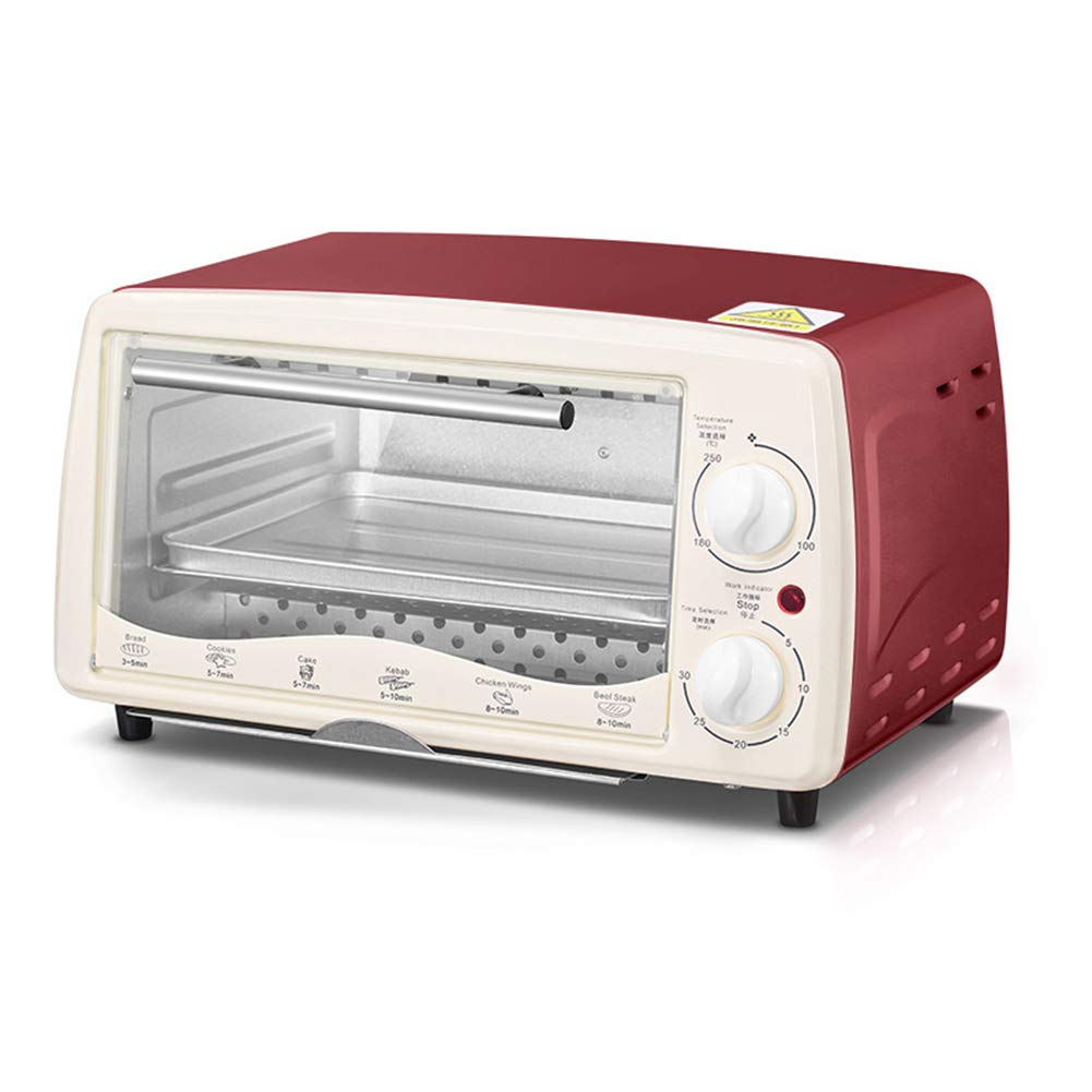 Oven - 680W, stainless steel case, multi-function grill, LCD display and grill fork