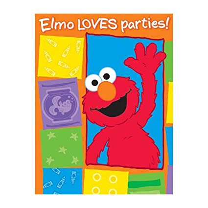 Amazon Com Elmo Loves You Invitations And Thank You Cards 16pc