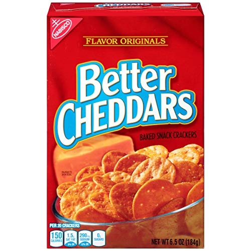 Flavor Originals Better Cheddars Baked Snack Crackers, 6.5 Ounce