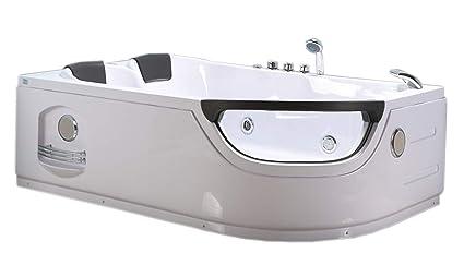Vasca Da Bagno Angolare 120 120 : Vasca bagno idromassaggio angolare modello luna cm
