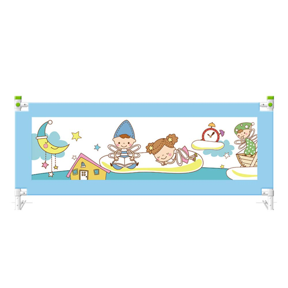 CHUNLAN ベッドガードレール 安全ベッドガードレールベビーチャイルドベッドルーム保護セーフティロック (色 : 青, サイズ さいず : 180cm) 180cm 青 B07JVGS796