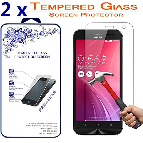 2X Asus ZenFone Zoom ZX550 5.5 inch Tempered Glass, [2 Pack,0.3mm] Tempered Glass Screen Protector, 9H Hardness ([2 Pack] for Asus ZenFone Zoom ZX550 5.5 inch)
