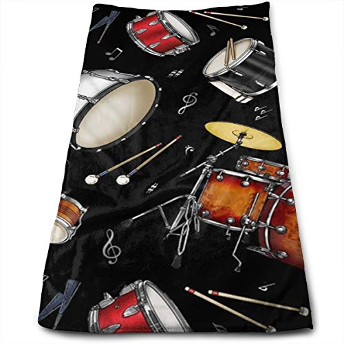 - Rock Drum Stand Compressed Quick-Dry Velour Fingertip Towels Washcloth - Carry-on, Durable, Lightweight, Commercial Grade, Ultra Absorbent - 12x27.5 Inches