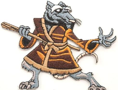 Master Splinter TMNT Embroidered Iron on Patch / Teenage Mutant Ninja Turtles Badge Applique