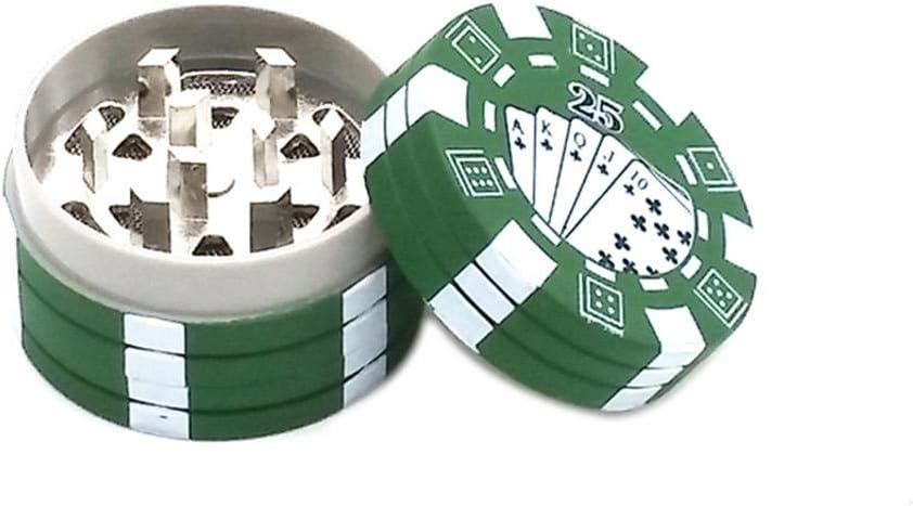 cypressen Grinder 3 Teilig Crusher Herb Pipe Gras M/ühle Kitchen Grinder Metall F/ür Tabak Pollen 40mm Kreative Poker Chip Gew/ürze Kr/äuter Spice Herb