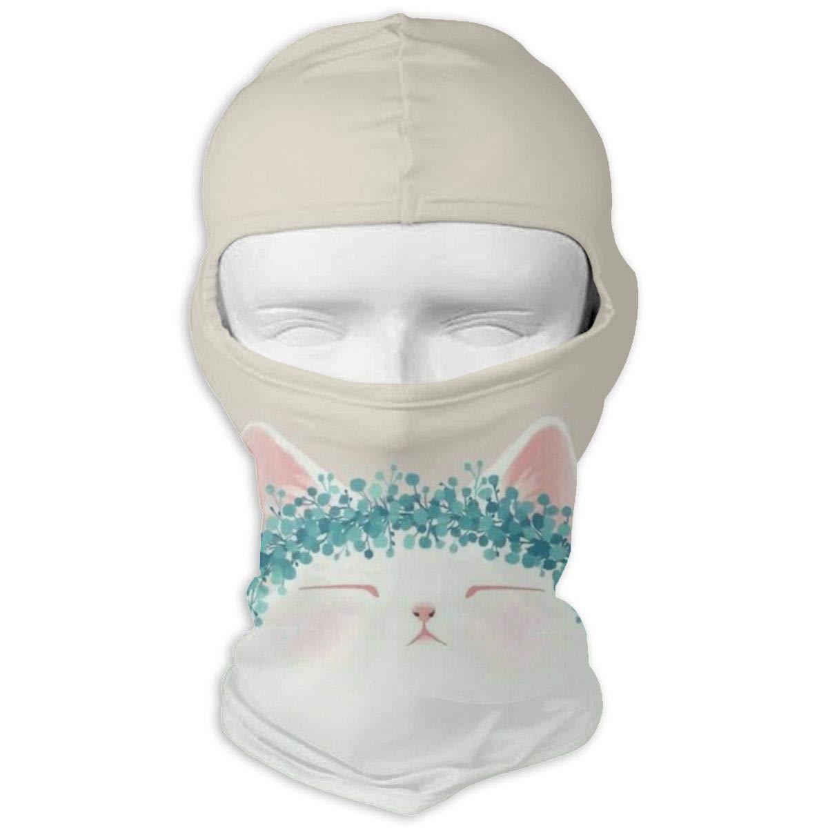 Gomop Ski Cap Lovely Cat Full Face Mask Wind-Resistant Face Mask