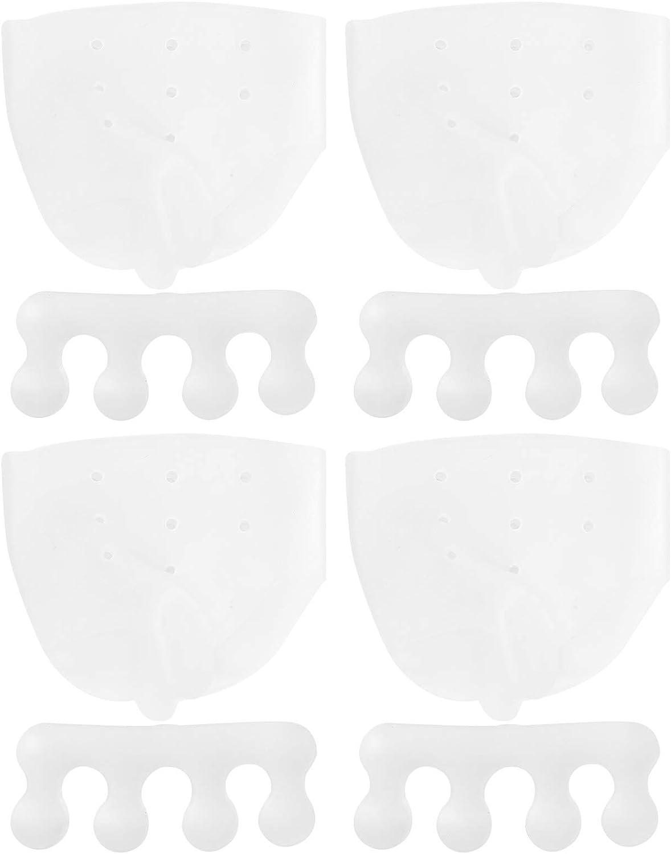 Yothtee 2 Set de Silicona Transparente Pulgar Valgus Órtesis Set Separador del Dedo del Pie Corrector Alisador para Pedicura Corrector de Juanete Yoga