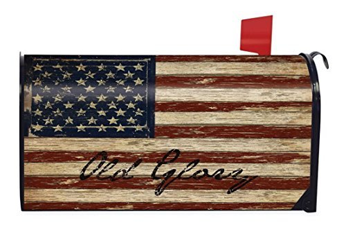 Briarwood Lane Old Glory Patriotic Magnetic Mailbox Cover American Flag Rustic by P Tor World