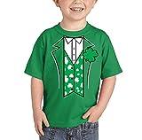 Toddler/Infant Irish Tuxido - St Patricks Day T-shirt (4T, KELLY GREEN)