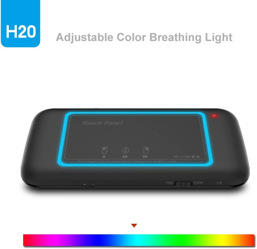 Pad RONSHIN Like for H20 Wireless LED Backlit Mini Keyboard with Full Screen Mouse Touchpad for PC Google Android TV Box