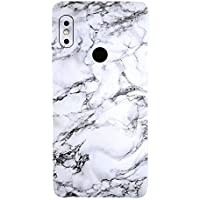 Gadgets Wrap Redmi Note 5 Pro Vinyl Fibre Only Back Customised Mobile Skin - White Marble-co-