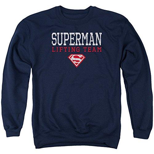 Superman - Lifting Team Adult Crewneck Sweatshirt