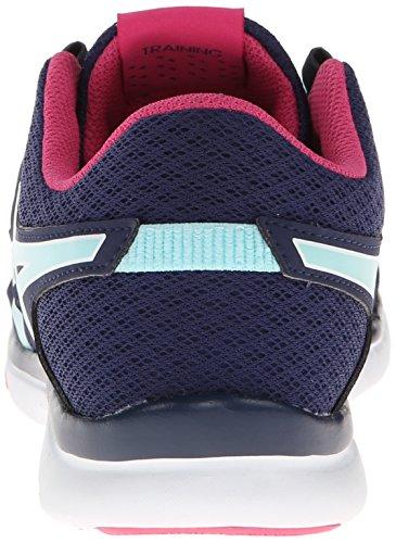 Asics Womens Gel Fit Tempo Tempo Cross-training Scarpe Navy / Ice Blue / Hot Pink