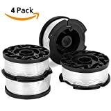 Cabiclean 4-Pack AF-100-3ZP 30ft 0.065'' Line String Trimmer Replacement Spool Automatic Feed Spool for Black-Decker AFS Trimmer LST201 LST420 LSTE523 LSTE525 LCC221 ST8600 MTC220 MET912