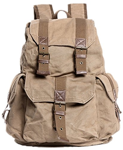 Backpack Large Canvas Khaki C04 Washed Sport 20