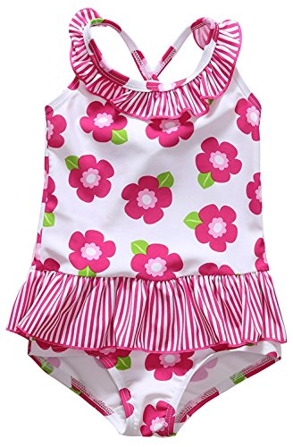 belamo Baby Infant Ruffle one Piece Swimsuit Girls 1 pcs Swimming Suit 6-12 Months -