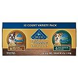 Blue Buffalo Blue Delights Filet Mignon in Gravy NY Strip in Gravy Variety Pack Dog Food - 3.5 oz. - Case of 12